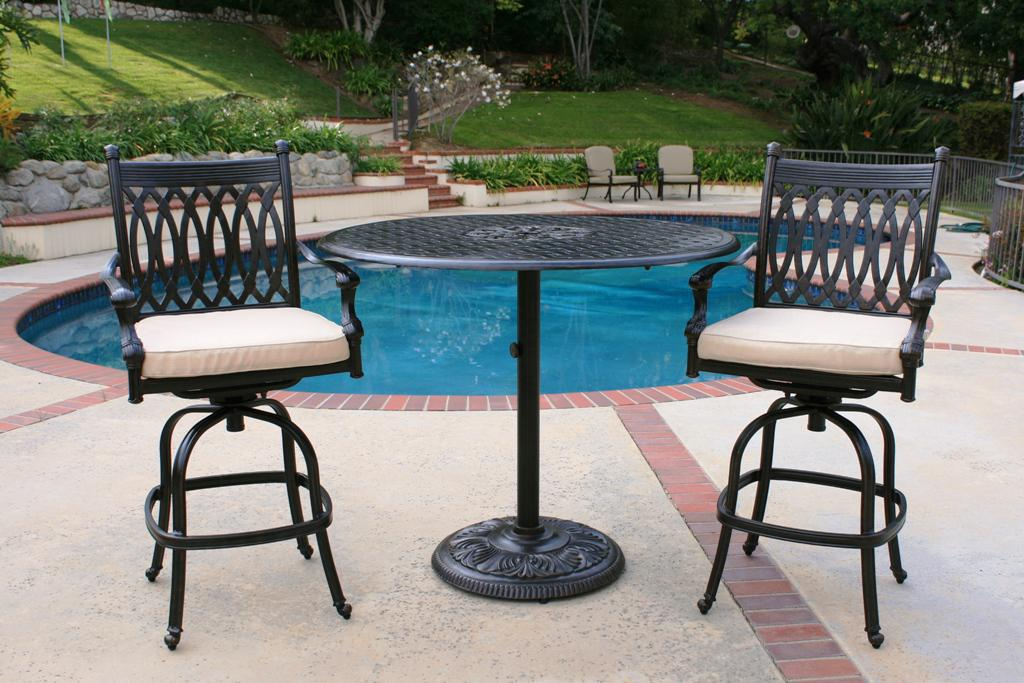 High Top Patio Table Set Materials