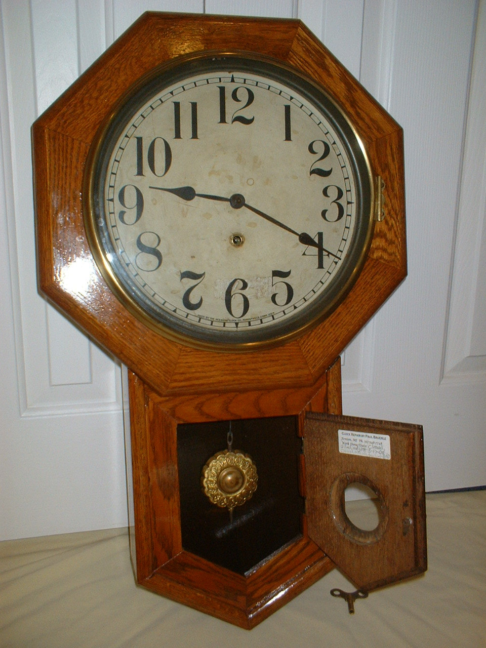 Antique Regulator Wall Clock Royals