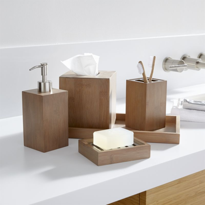 Bamboo Bathroom Accessories Sets
