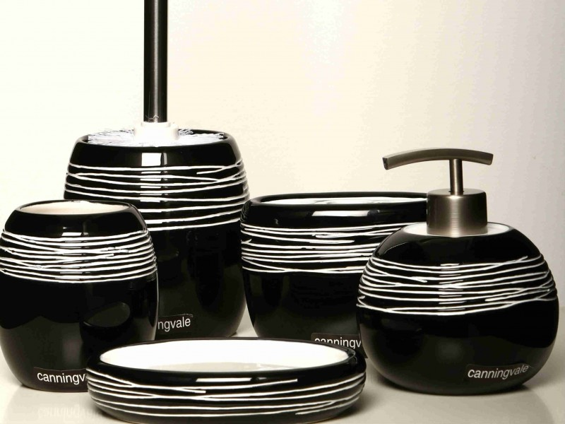 Black Bathroom Accessories Sets