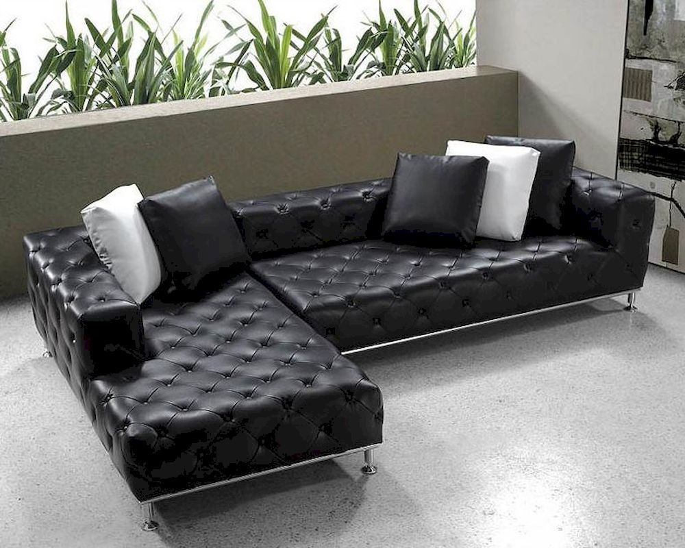Shade Tufted Leather Sectional | Royals Courage