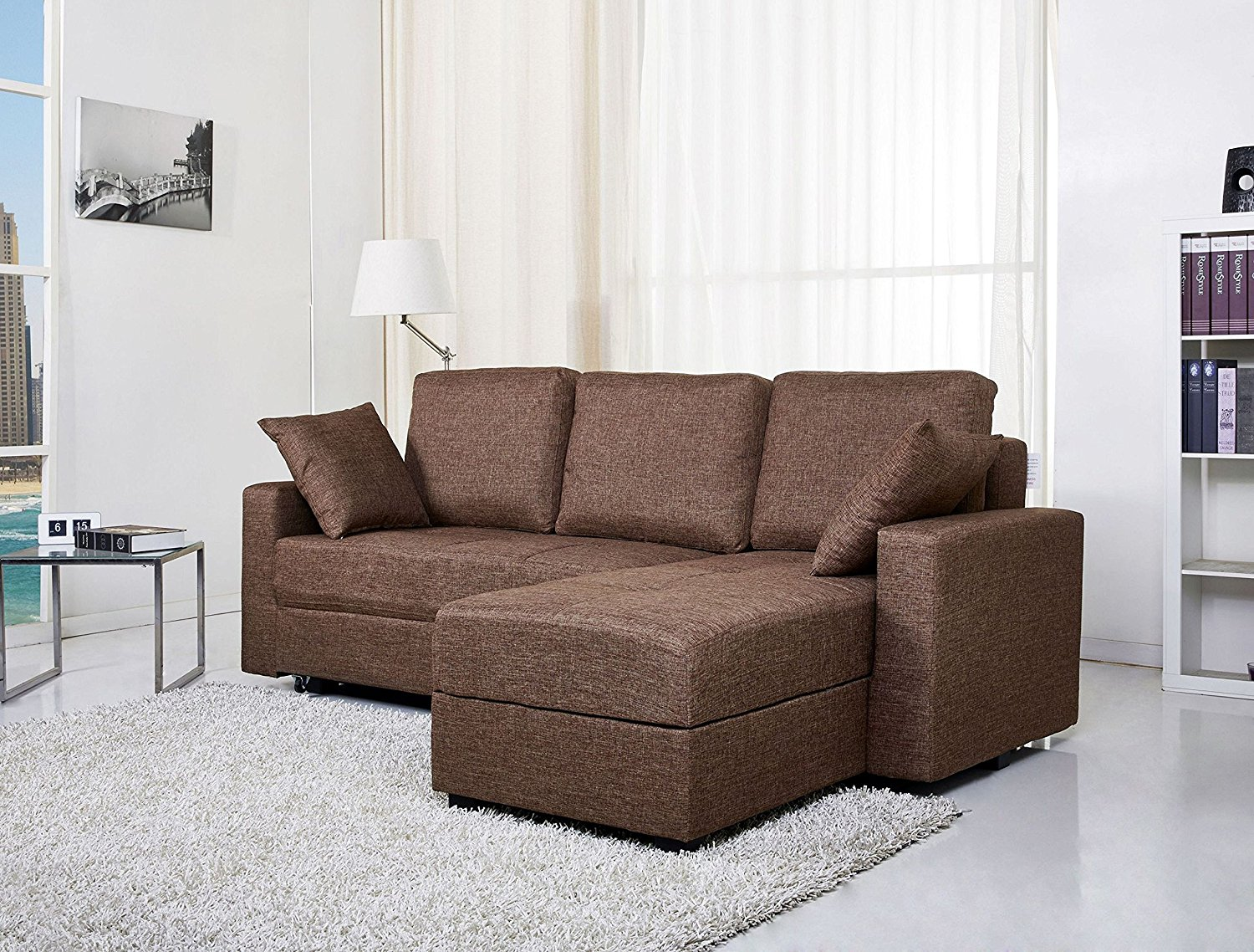 Convertible Sectional Sofa Bed Storage Royals Courage