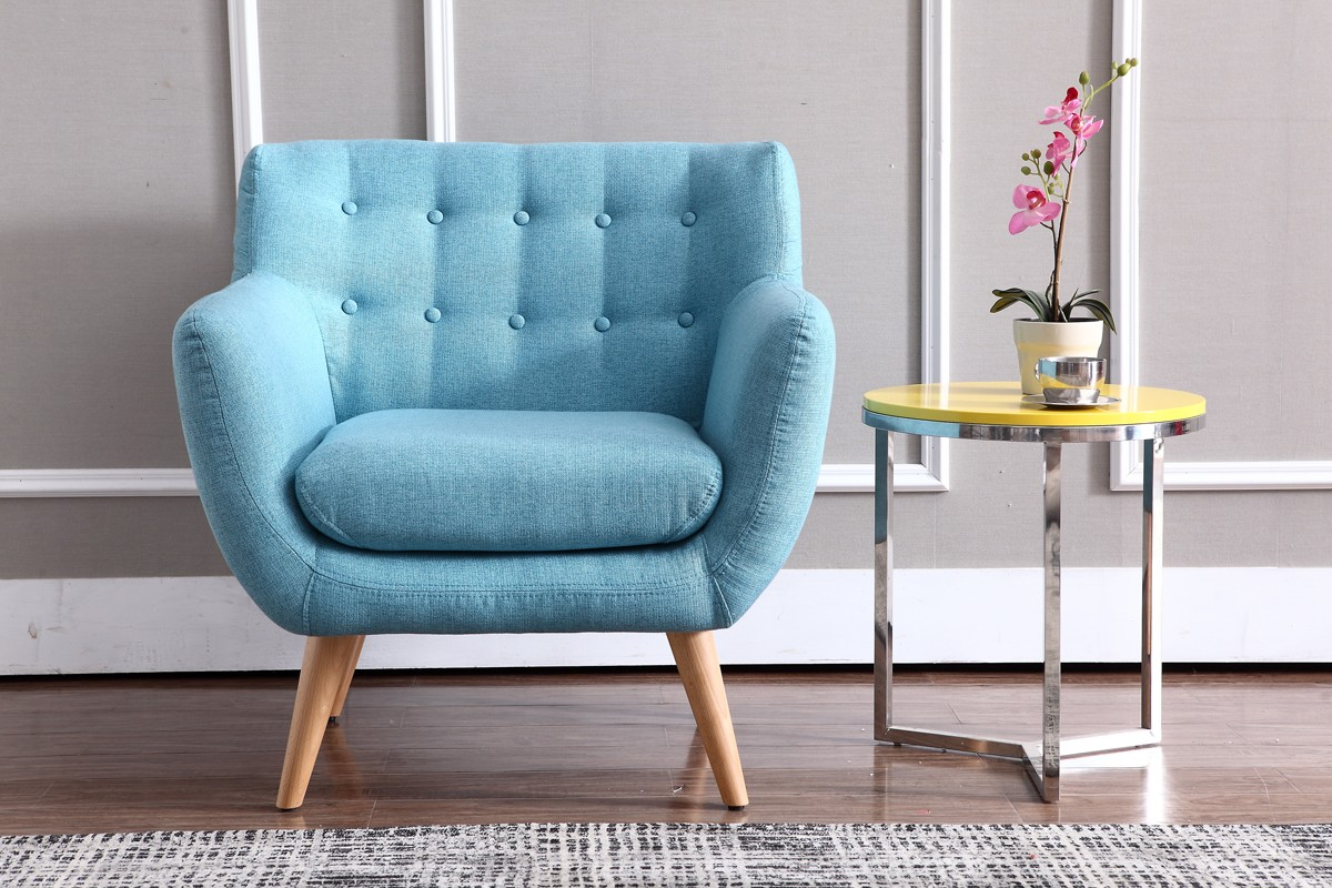 Teal Accent Chair Type Royals Courage