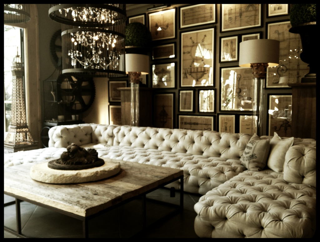Mid Century Tufted Leather Sectional   Royals Courage : Shade Tufted ...