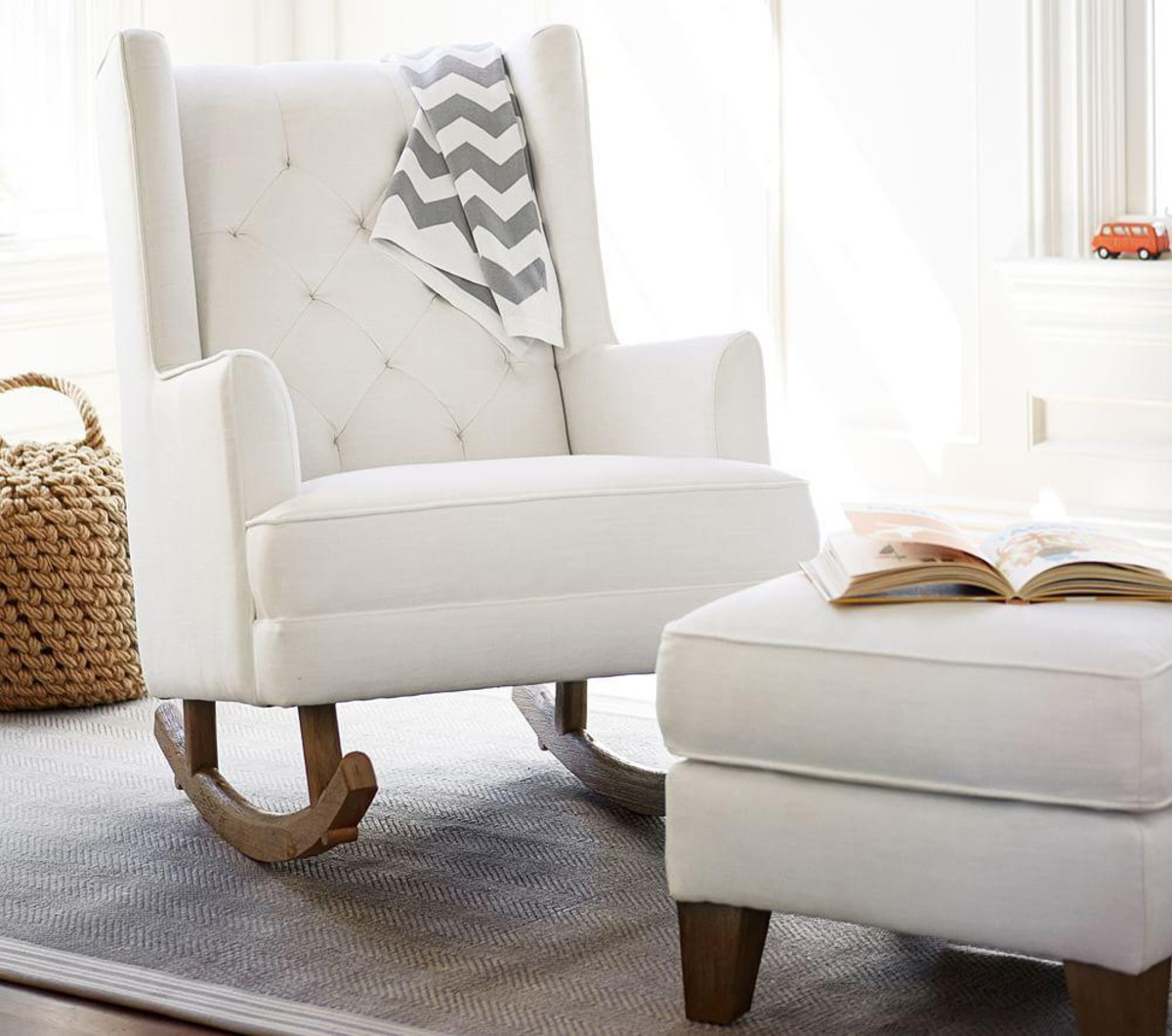 Fantastic Modern Rocking Chair Nursery White Royals Courage Bralicious Painted Fabric Chair Ideas Braliciousco