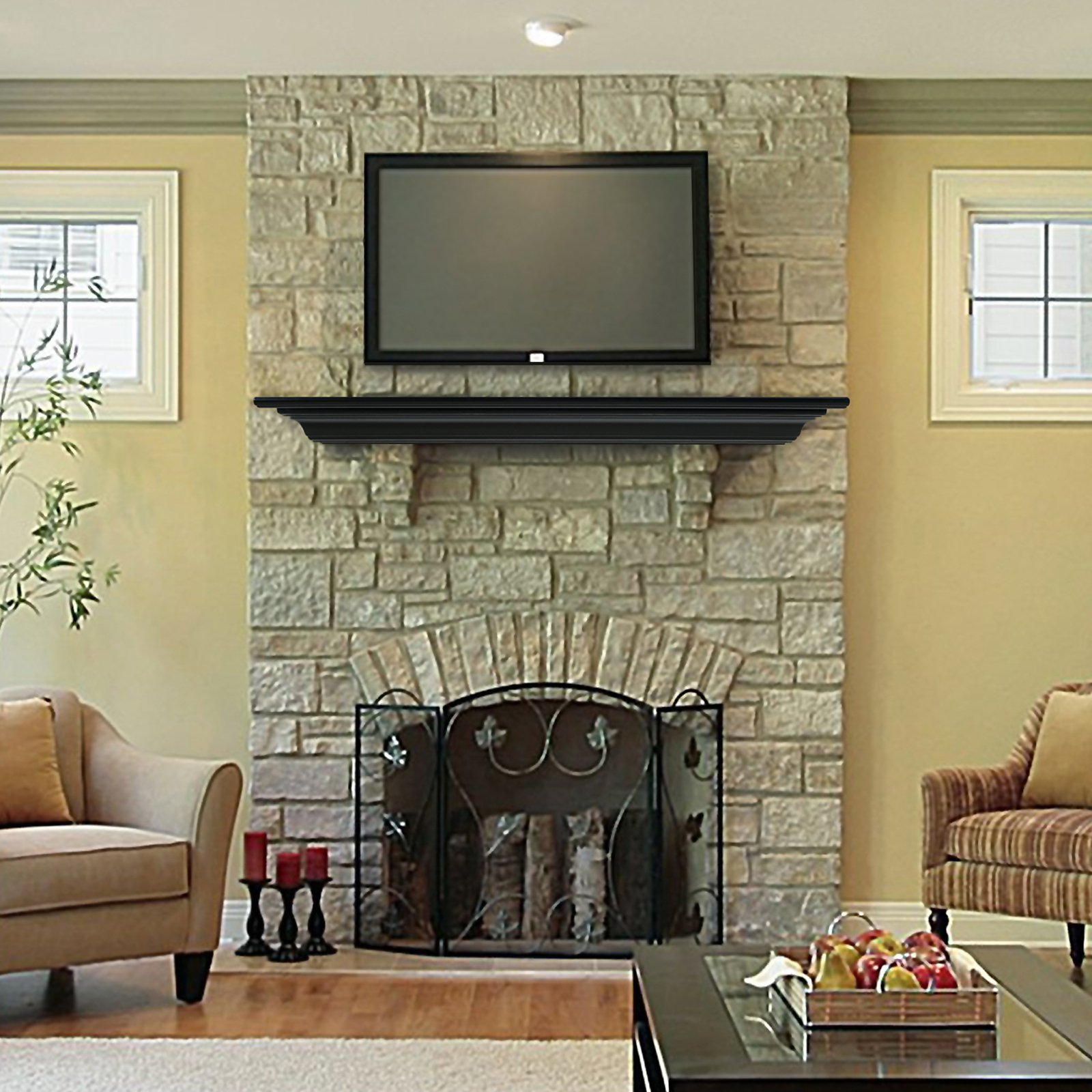 Nice Fireplace Mantel Shelf Royals Courage Putting In