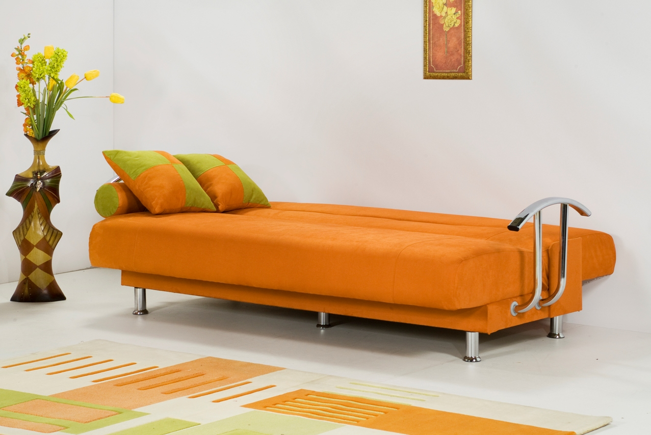 Orange Modern Sofa Bed Royals Courage