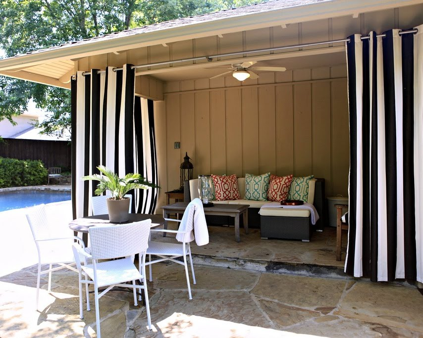 Outdoor Patio Curtains Two Color