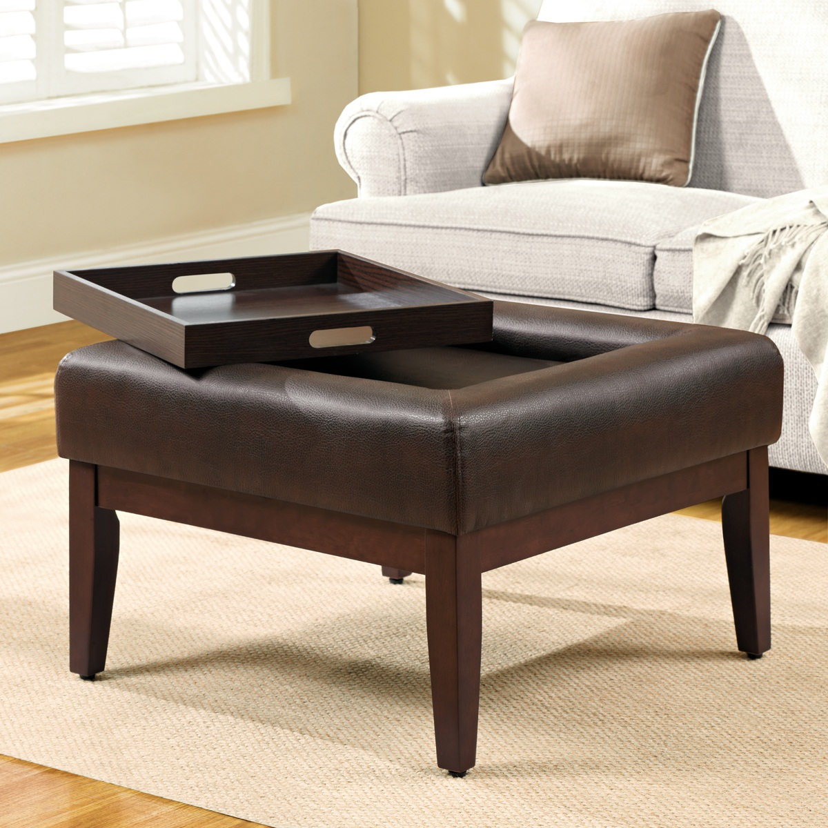 Oversized Square Ottoman Coffee Table Royals Courage