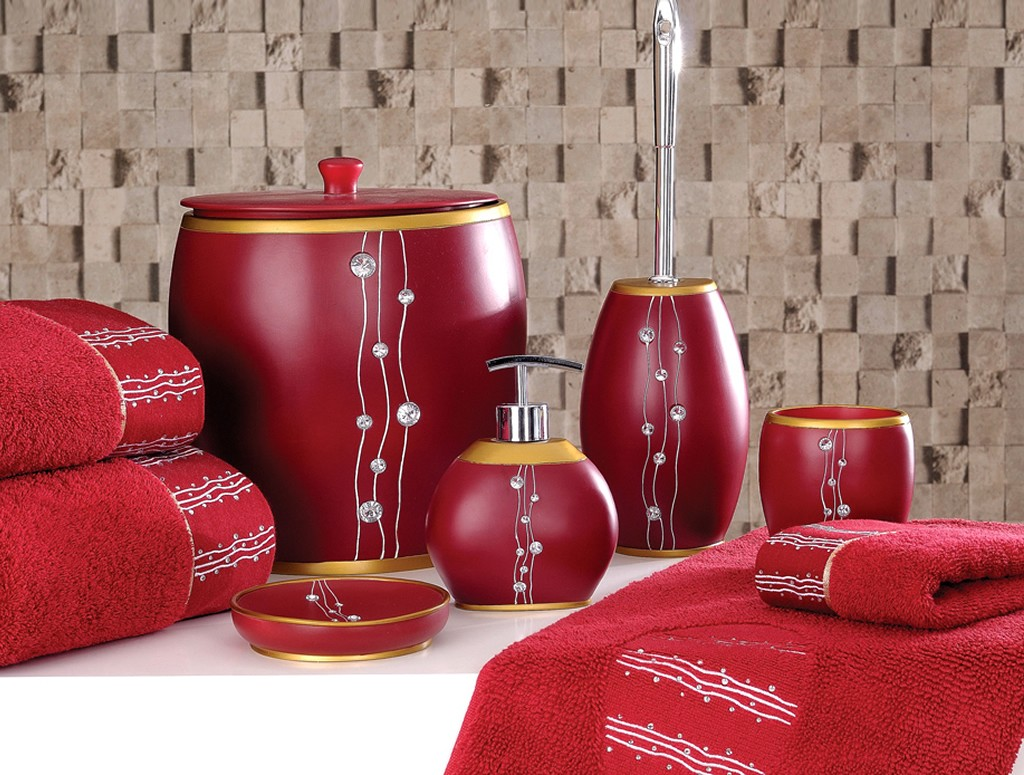 Red Bathroom Accessories Sets Royals