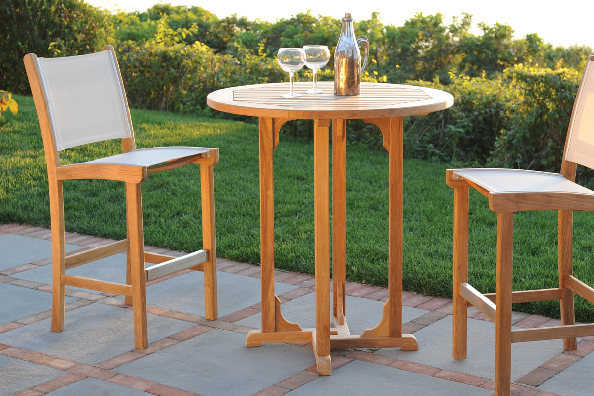 Teak High Top Patio Table Set Royals Courage High Top Patio Table Set Materials Choice