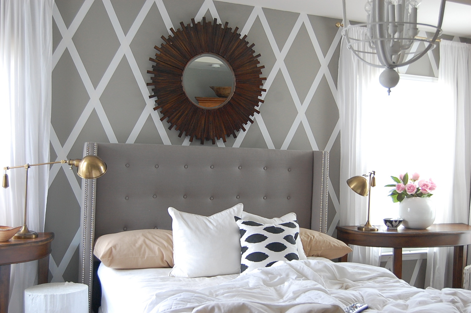 Customized Tufted Wingback Headboard Royals Courage
