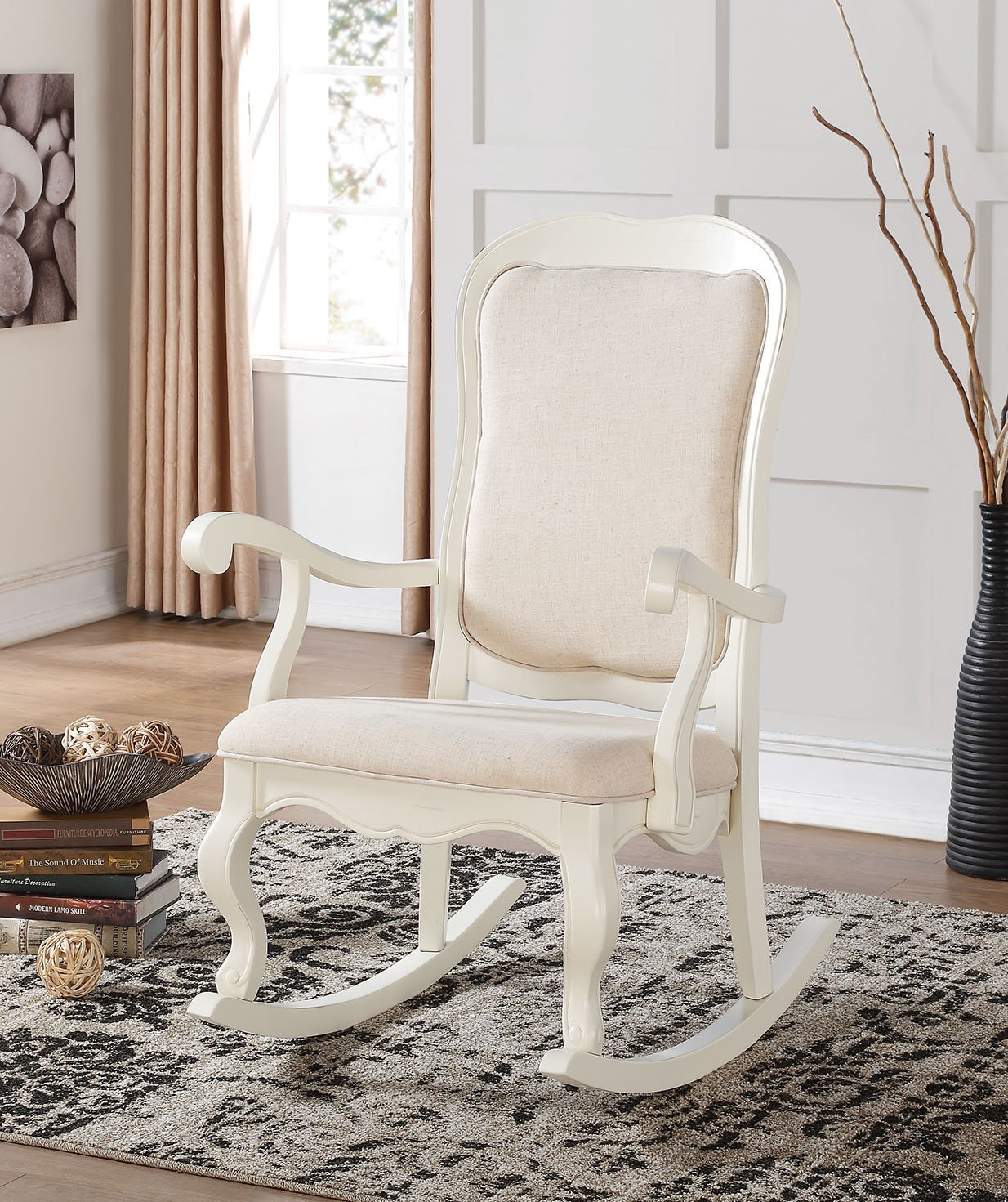 Astonishing White Rocking Chair Cushion Royals Courage Lovely And Bralicious Painted Fabric Chair Ideas Braliciousco