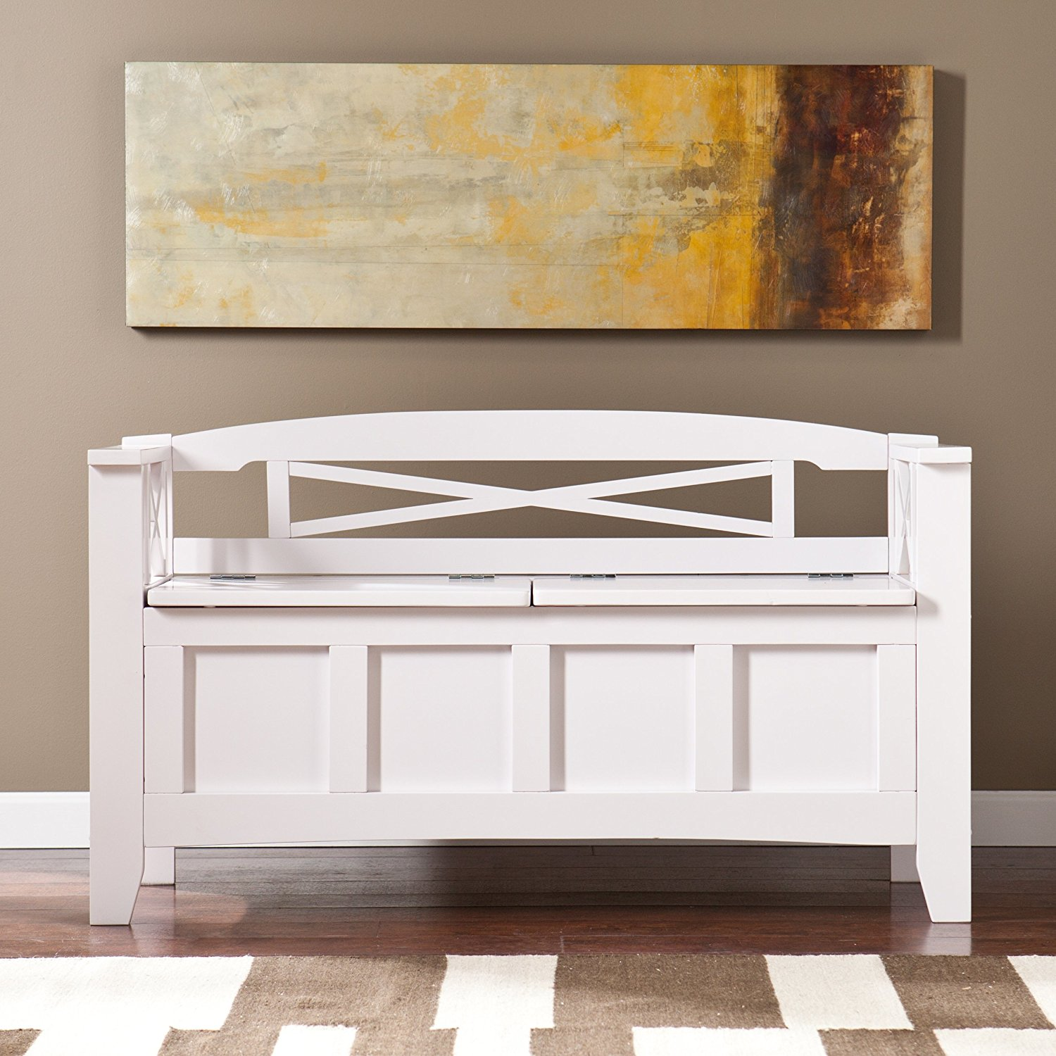 Peachy White Wood Storage Bench Arms Royals Courage Ultimate Evergreenethics Interior Chair Design Evergreenethicsorg