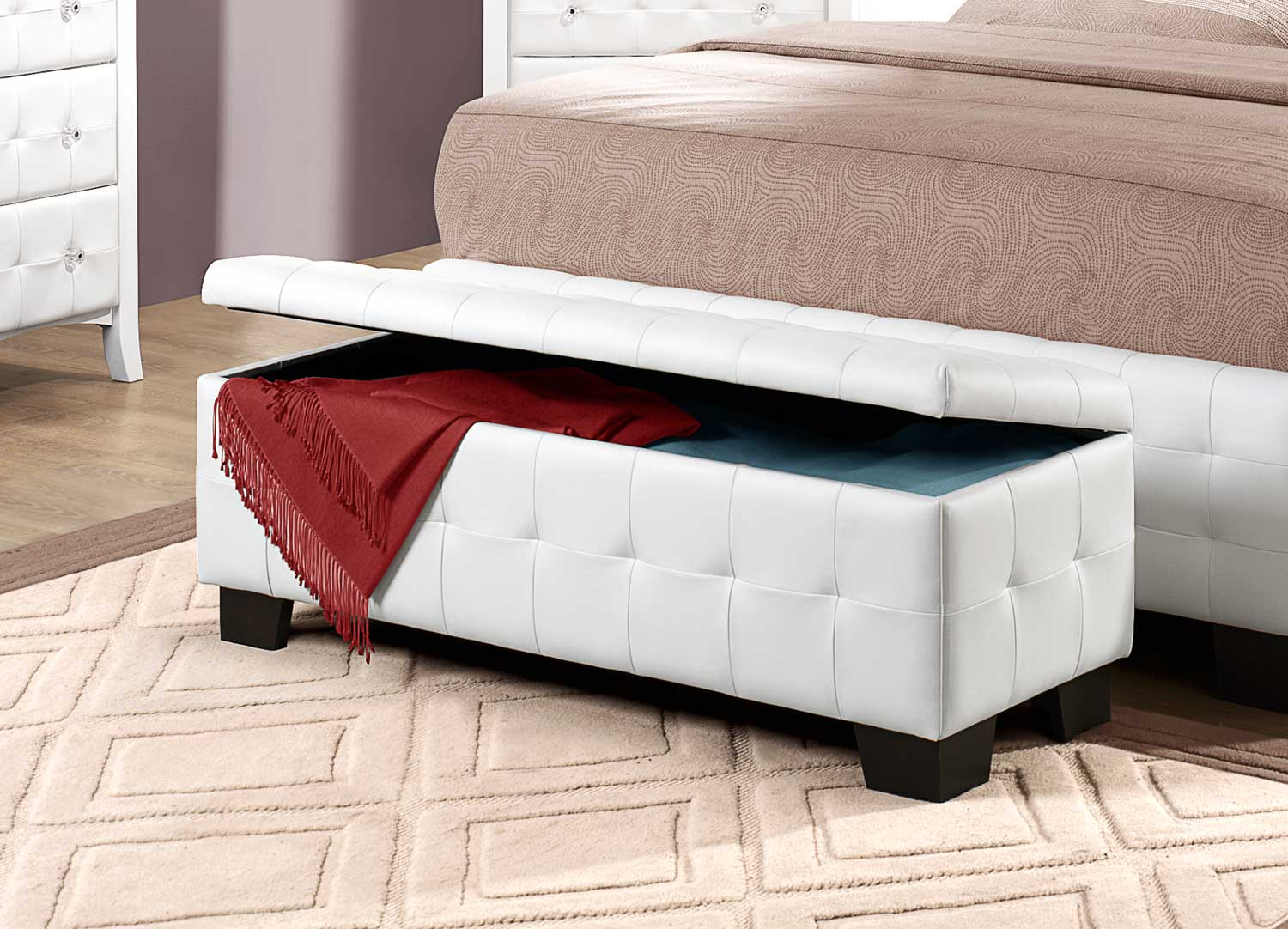 Super White Wood Storage Bench Tufted Royals Courage Ultimate Creativecarmelina Interior Chair Design Creativecarmelinacom