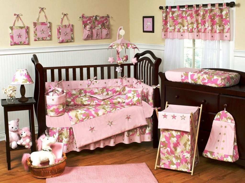 Baby Bedding Camo Pink Royals Courage