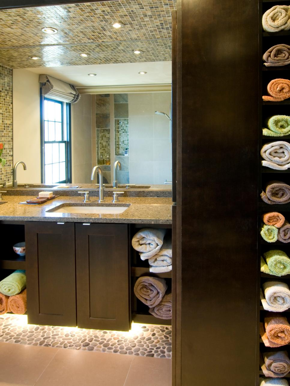 Bathroom Towel Shelves And Cabinets