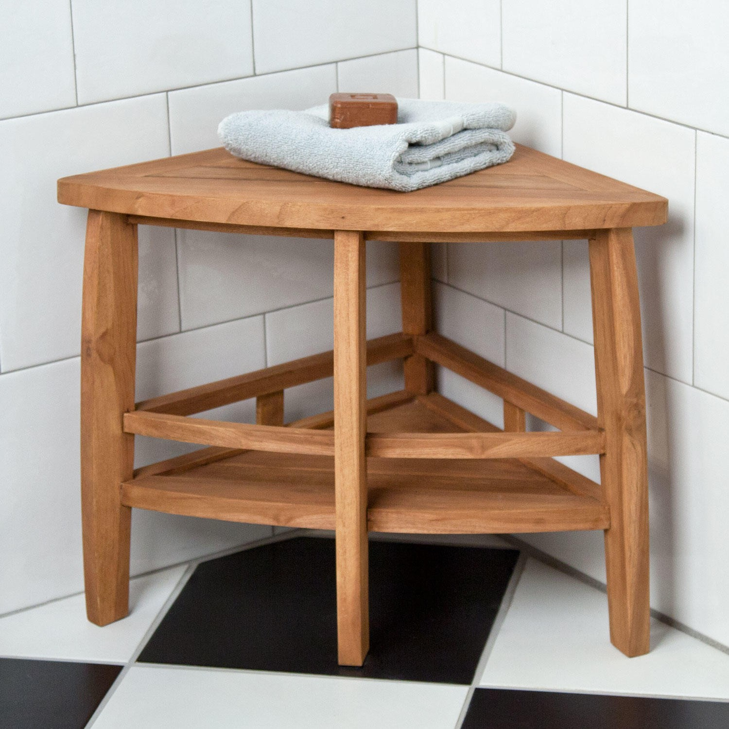 Wooden Bath Bench Stool Royals