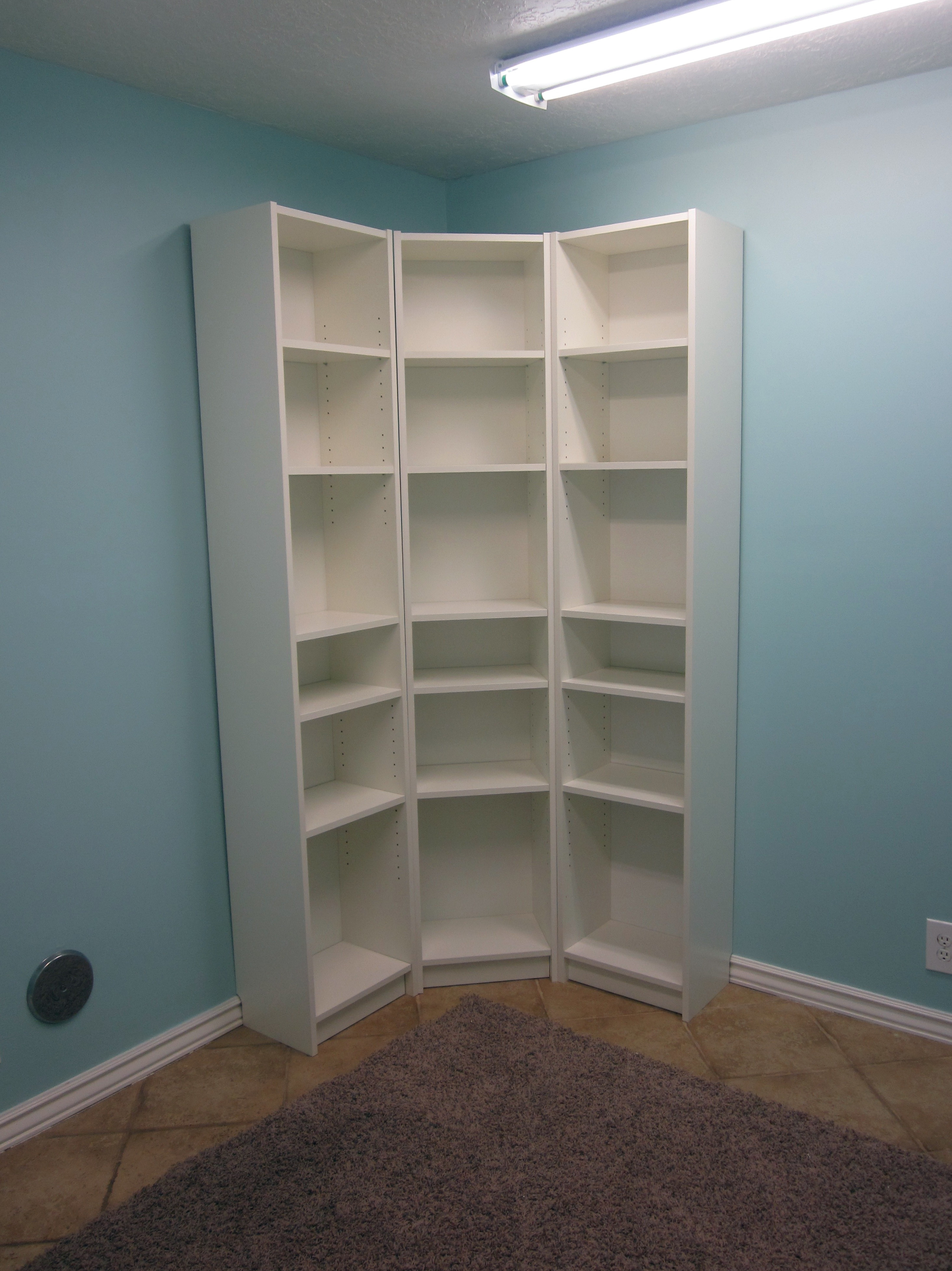 White Corner Bookcase Royals Courage When You Place An L Shaped Bookcase