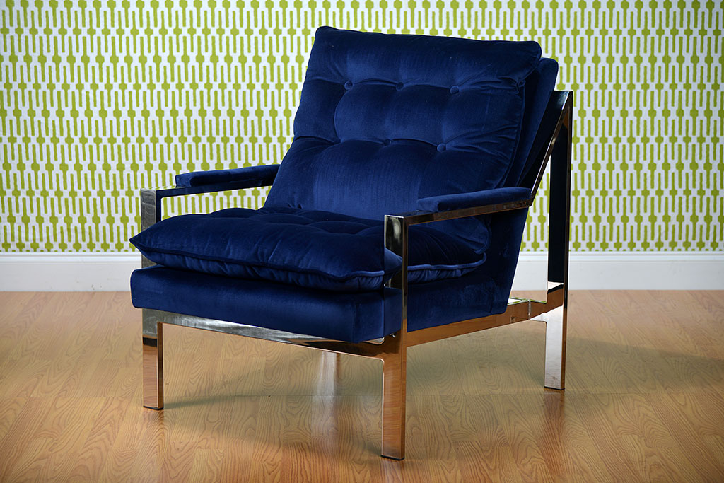 Picture of: Blue Velvet Chairs Royals Courage Enjoyable Navy Blue Accent Chair