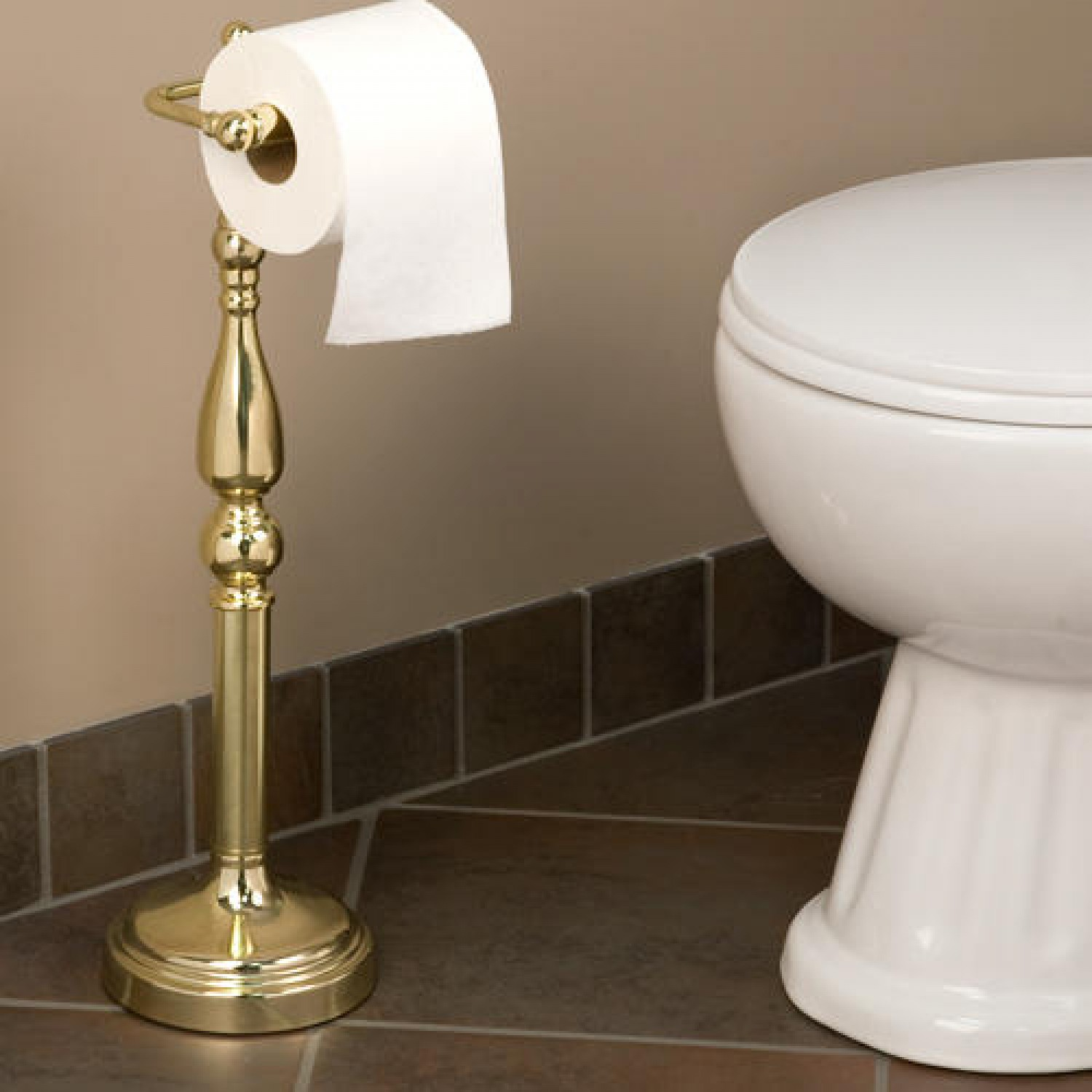 d313cebabed664 Back To Article → Artistic Toilet Paper Holder Stand. With copper twin tissue  roll ...