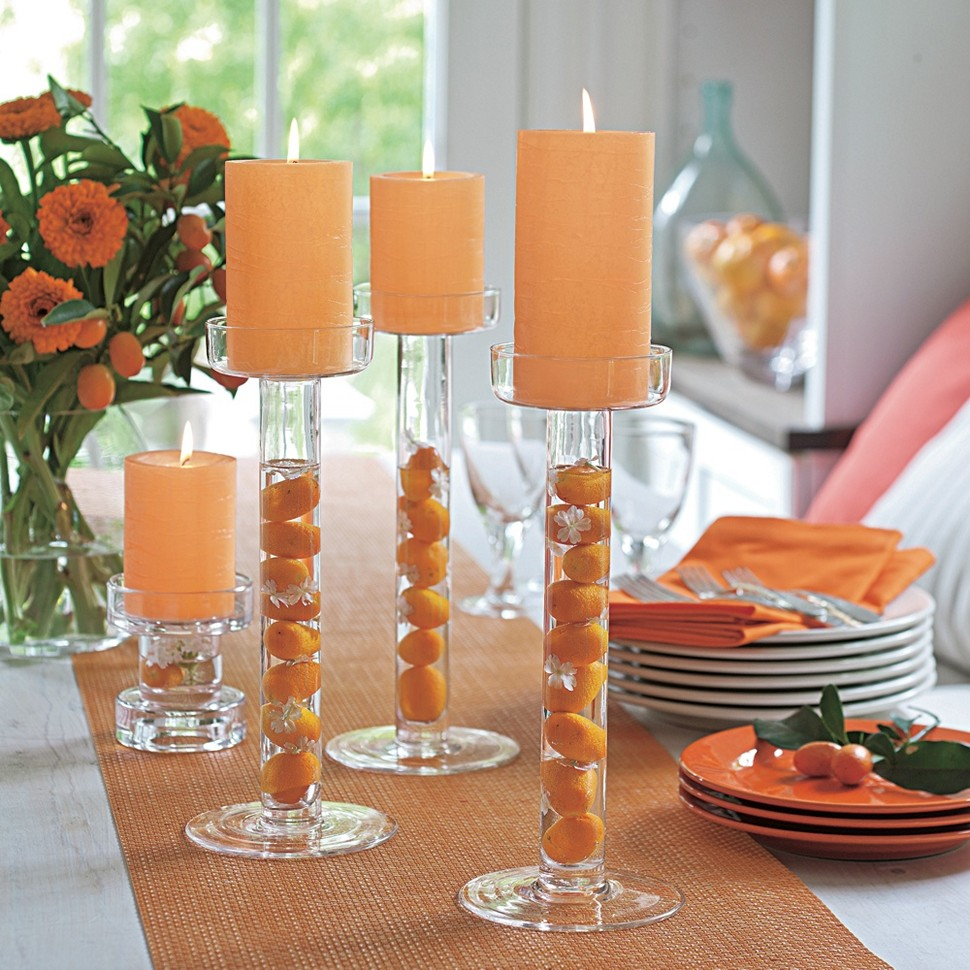 Candle Holders On Dining Table Royals