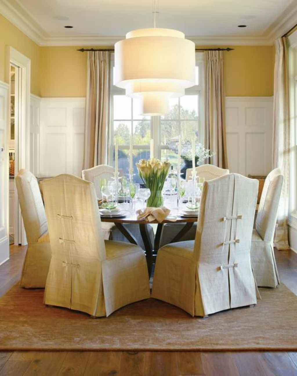 Chair Covers For Round Back Chairs, Round Back Dining Room Chair Covers