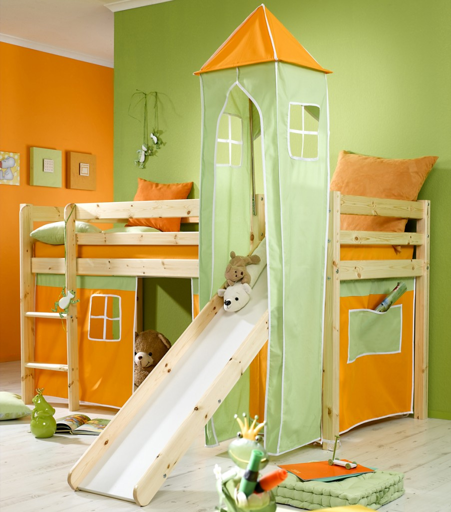 Cool Bunk Bed With Slide Marcuscable Com