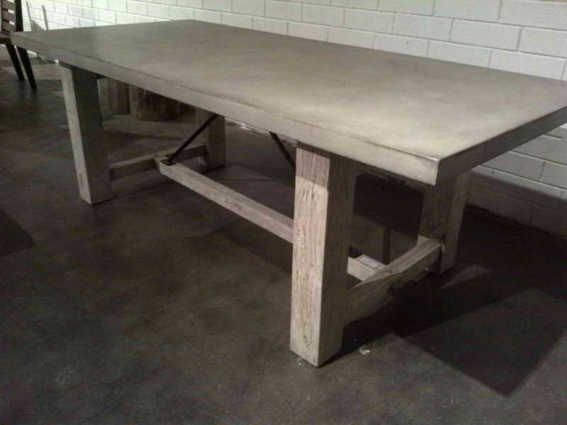 Concrete And Wood Table Diy Royals Courage New Concepts