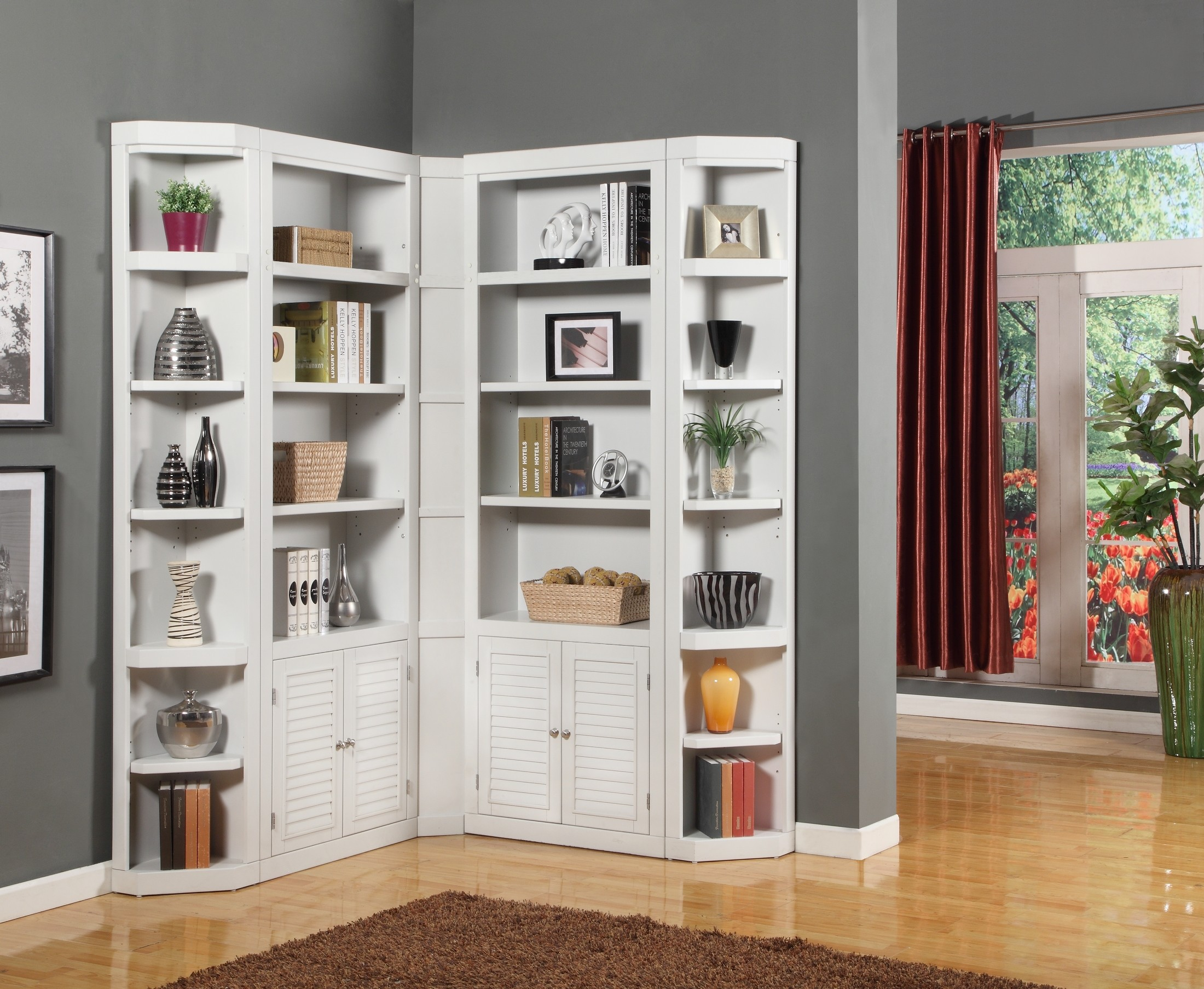 Corner Bookcase Diy Royals Courage When You Place An L