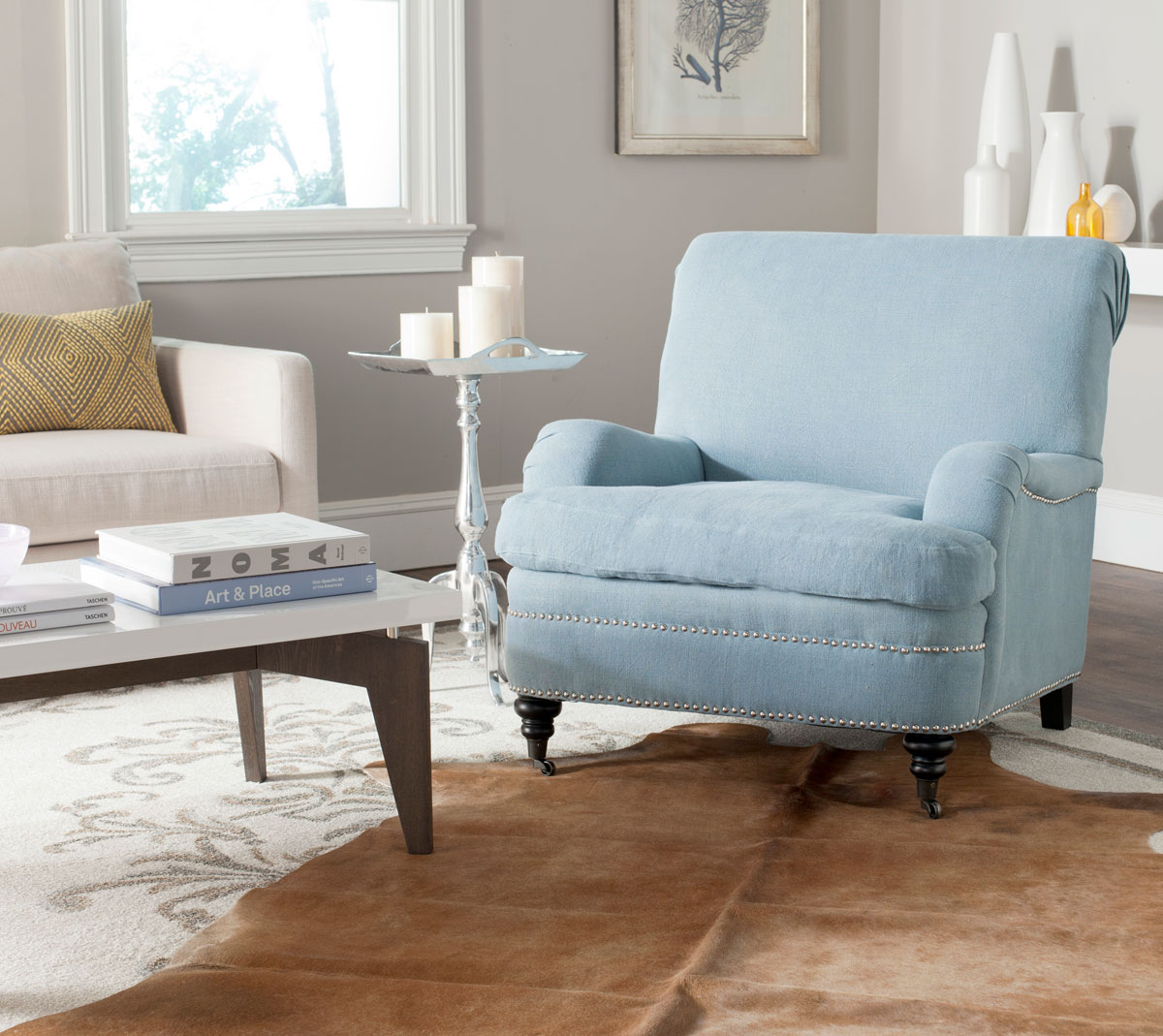 Blue Accent Chairs Living Room Royals Courage Enjoyable