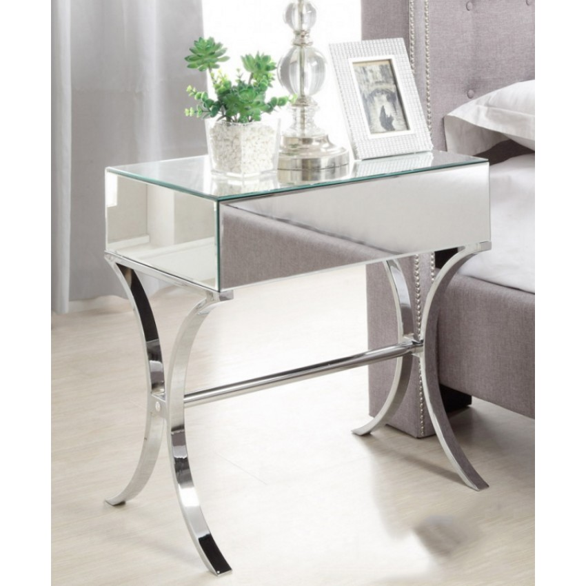 Custom Mirrored Accent Cabinet Royals Courage Ornamental