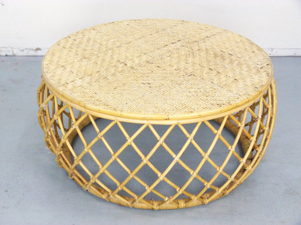 Elegant Round Wicker Coffee Tables Royals Courage Spherical Wicker Coffee Table