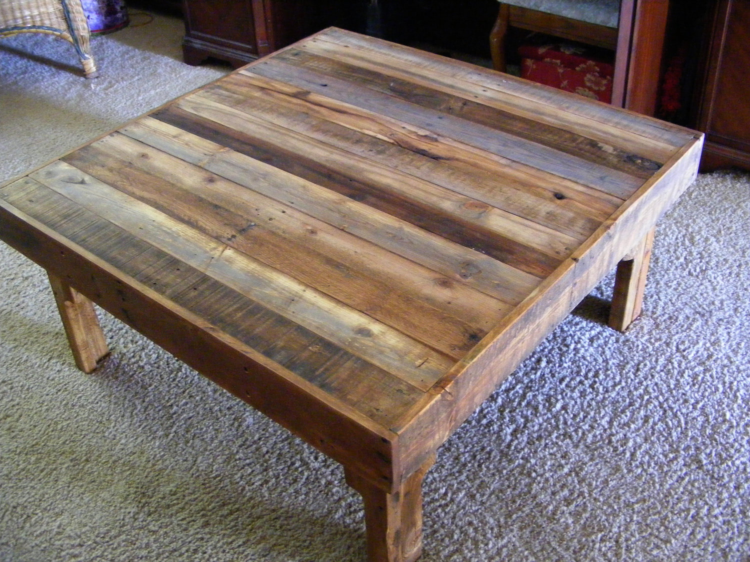 - Extra Large Square Coffee Tables Royals Courage : Rustic Square
