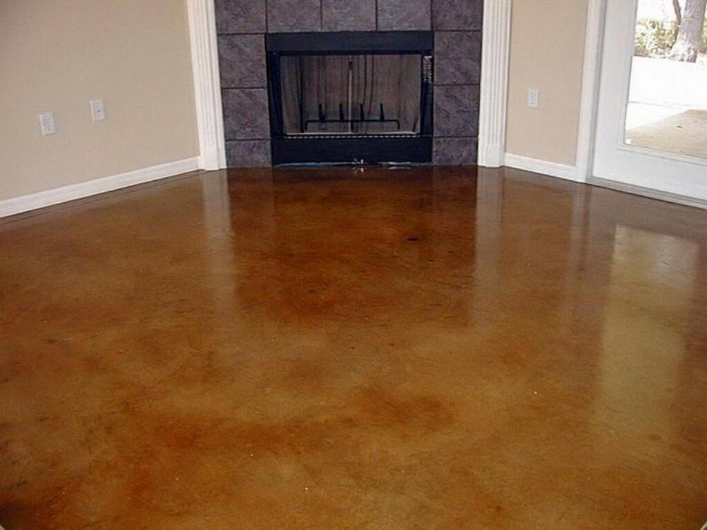 Polished And Painted Concrete Floors
