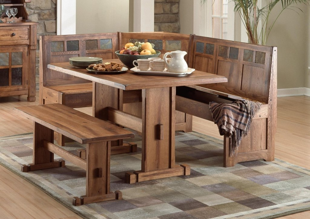 Picture of: Corner Kitchen Table With Storage Bench Royals Courage Selecting The Table With Bench