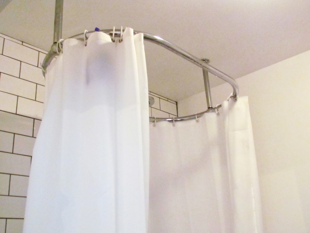 L Shaped Shower Curtain Rod Brushed Nickel Royals Courage