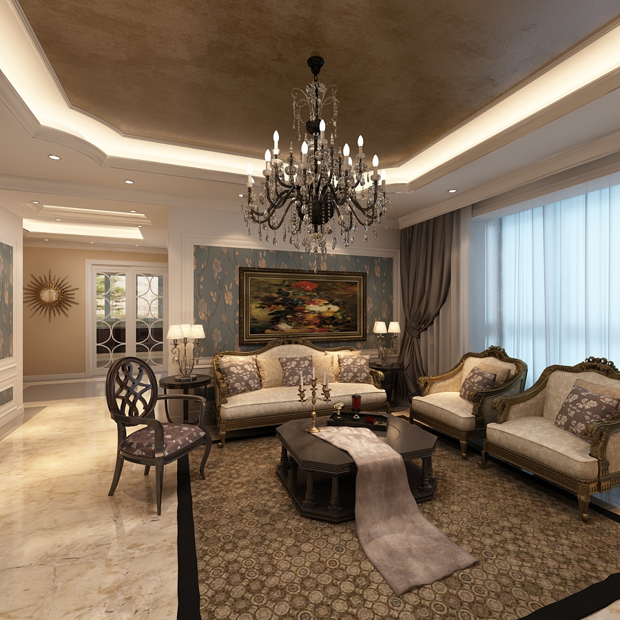Luxury Living Room Furniture Royals Courage Trendy