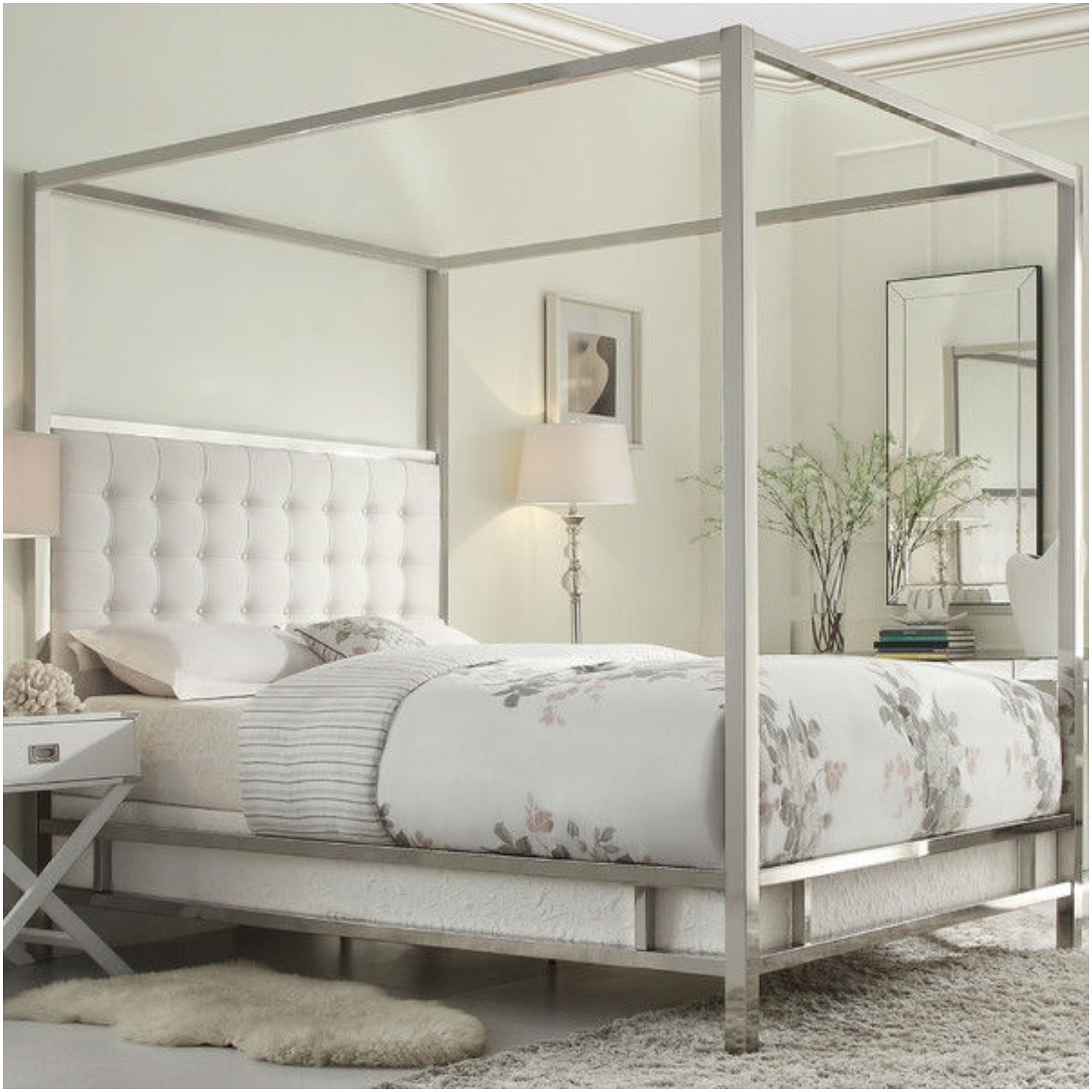- Metal Canopy Bed Frame Ideas Royals Courage : Metal Canopy Bed