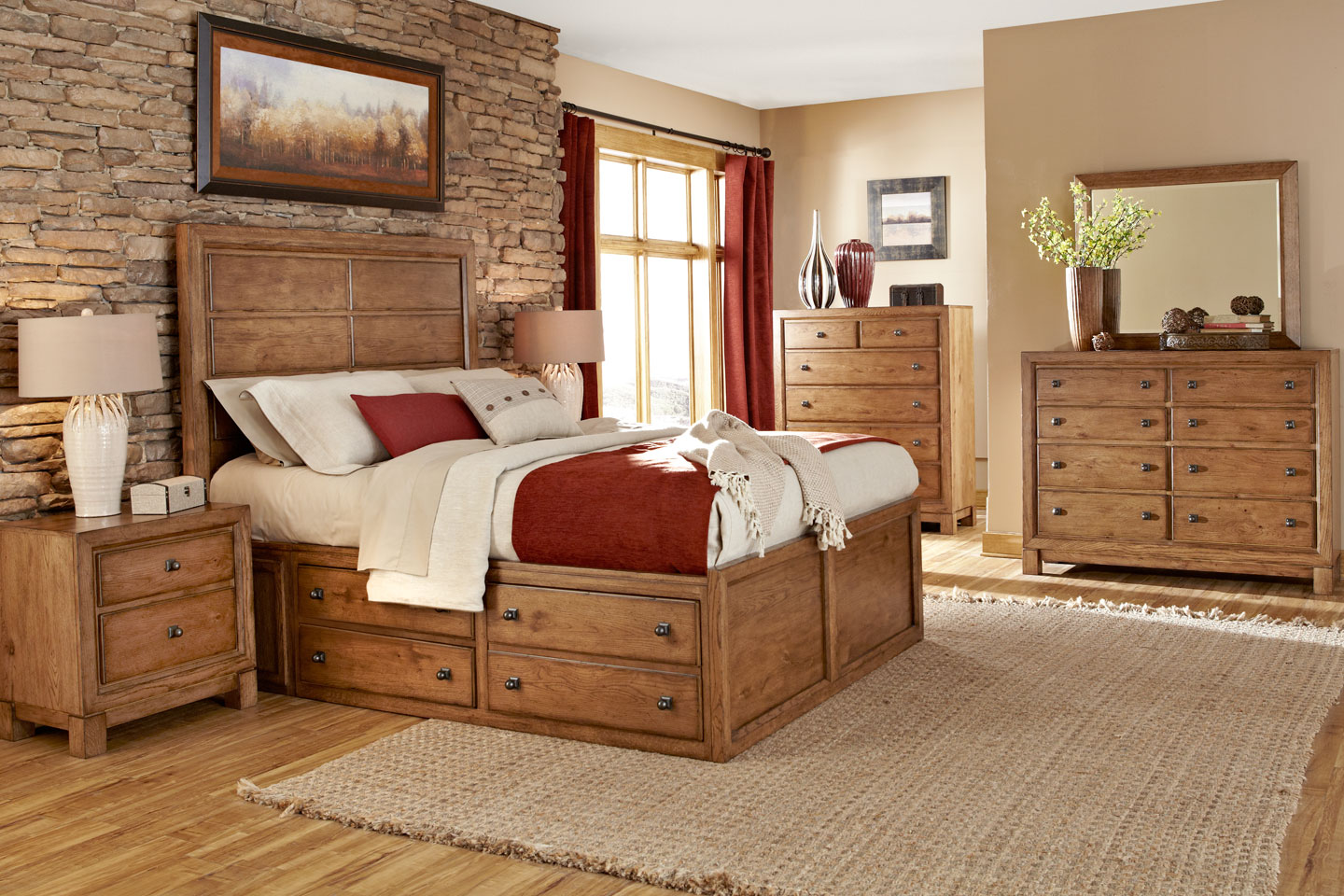 Modern Rustic Bedroom Furniture Royals Courage Heat And Vibrant