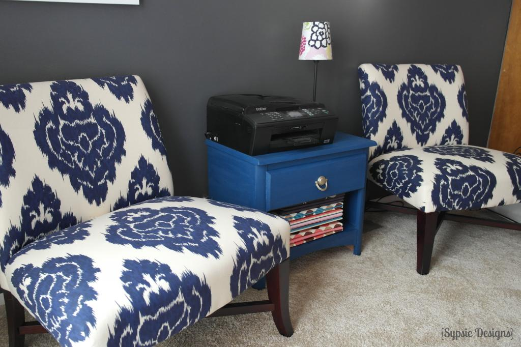 Enjoyable Navy Blue Accent Chair | Royals Courage