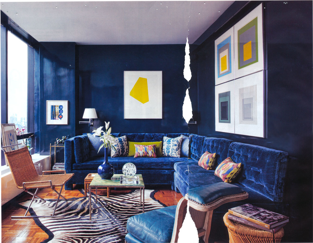 Wonderful Navy Blue Living Room Royals Courage