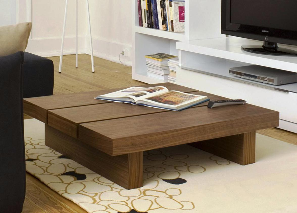 - Oversized Square Coffee Table Royals Courage : Rustic Square
