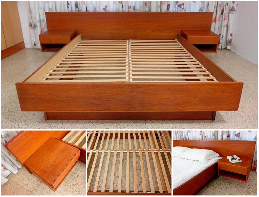 Platform Bed Plans With Nightstand