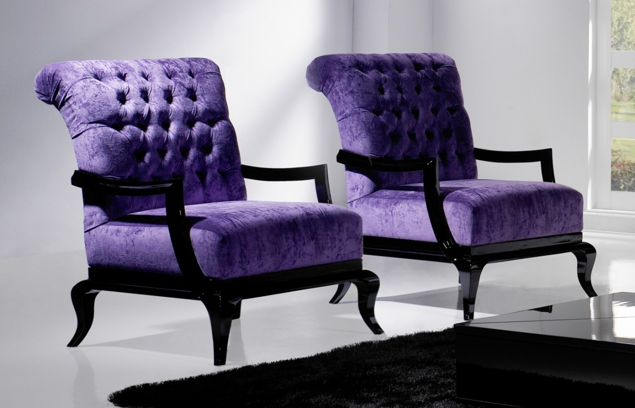 Enjoyable Rooms With Lovely Purple Accent Chair Royals Courage Machost Co Dining Chair Design Ideas Machostcouk