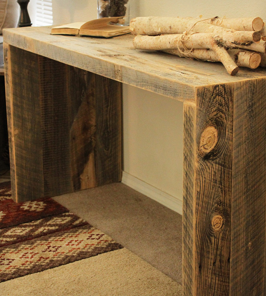 Reclaimed Wood Entryway Table Royals Courage Dreamed