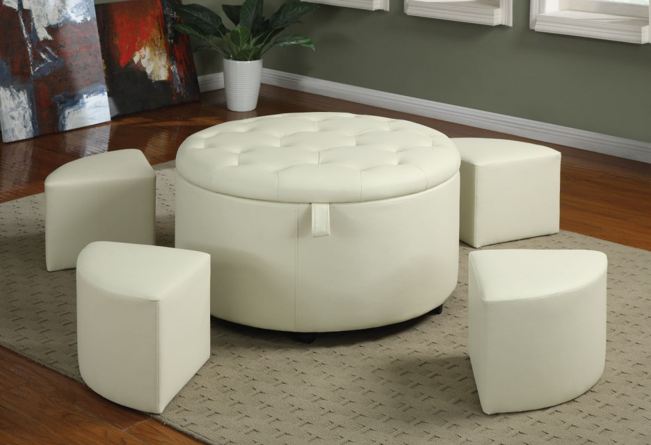 Remarkable Round Ottoman Coffee Table Royals Courage Adorning The Uwap Interior Chair Design Uwaporg