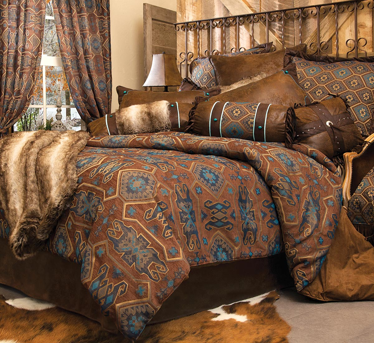 Rustic Comforter Sets Western Royals Courage Greatest Western Bedspreads Type