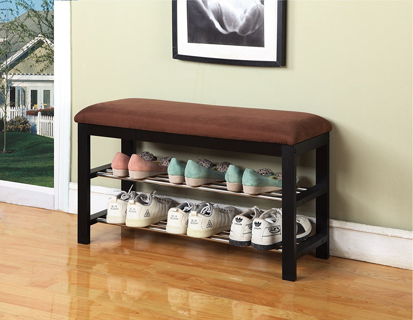 Fantastic Shoe Bench Walmart Royals Courage Shoe Rack Bench Good Gmtry Best Dining Table And Chair Ideas Images Gmtryco