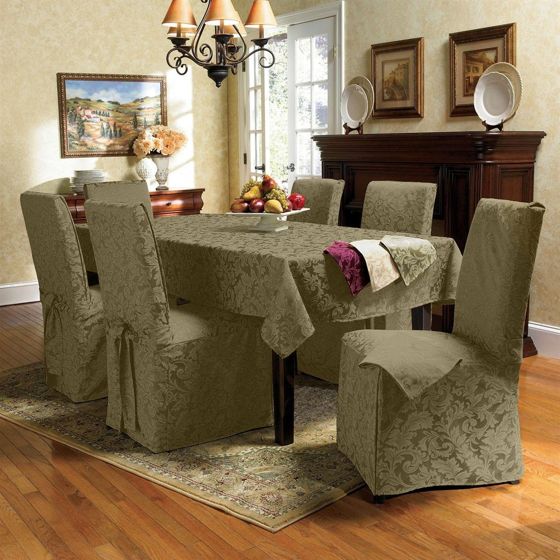 Picture of: Slipcovers For Chairs Royals Courage Create Your Eating Space Extra Engaging With A Dining Room Chair Covers